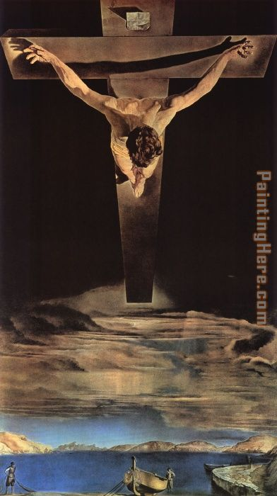 Christ of saint john of the cross painting - Salvador Dali Christ of saint john of the cross art painting