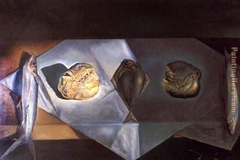 Eucharistic Still Life painting - Salvador Dali Eucharistic Still Life art painting