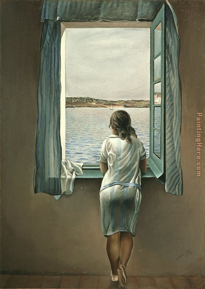 Figure at a Window I painting - Salvador Dali Figure at a Window I art painting