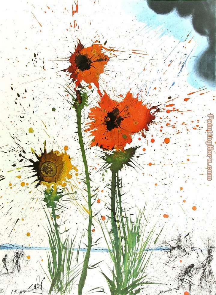 Spring Explosive painting - Salvador Dali Spring Explosive art painting