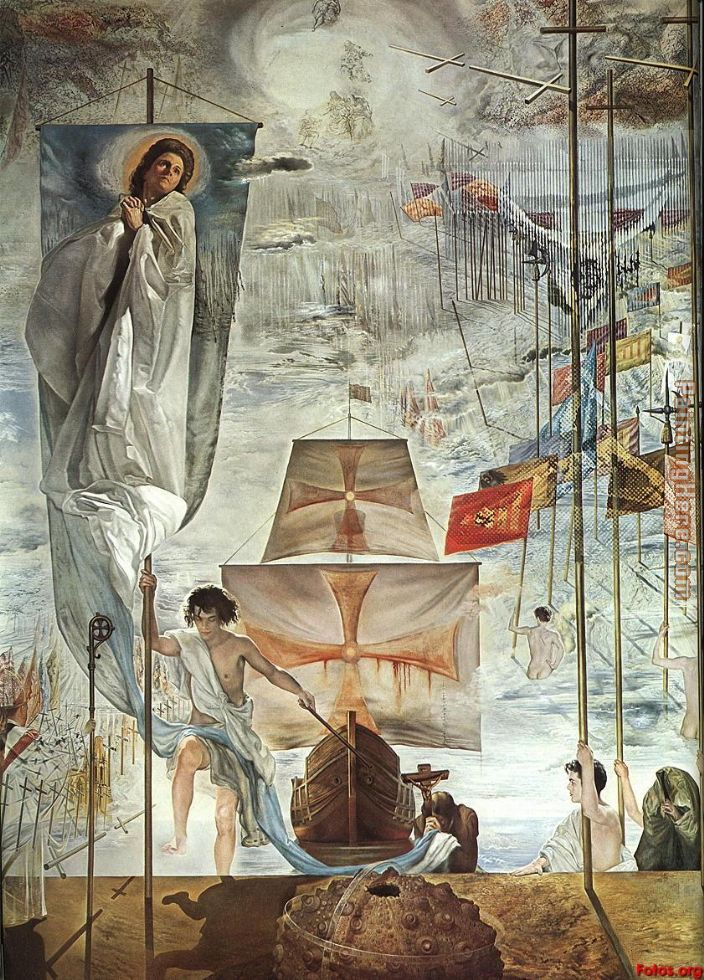 The Discovery of America by Christopher Columbus painting - Salvador Dali The Discovery of America by Christopher Columbus art painting