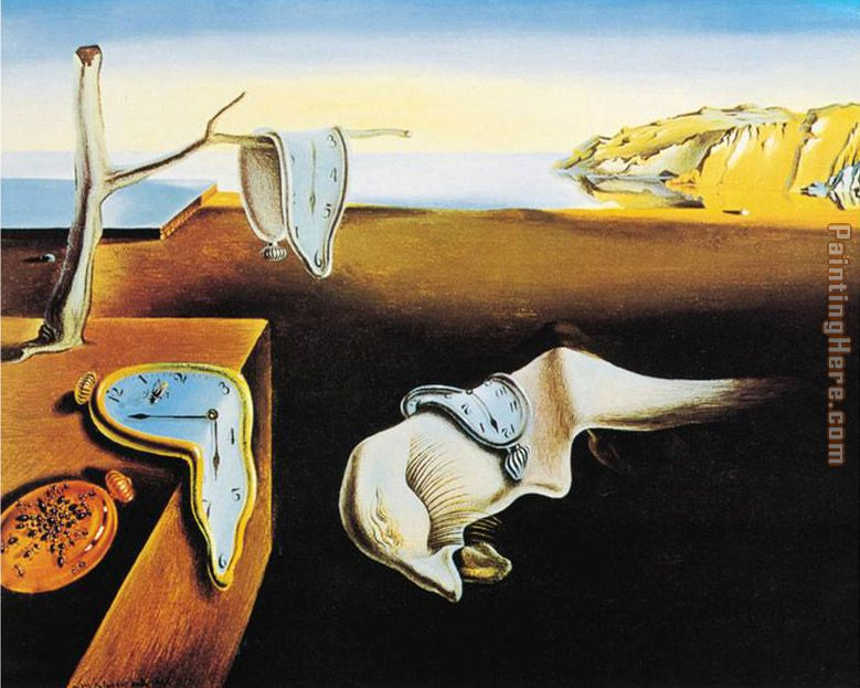 The Persistence of Memory painting - Salvador Dali The Persistence of Memory art painting