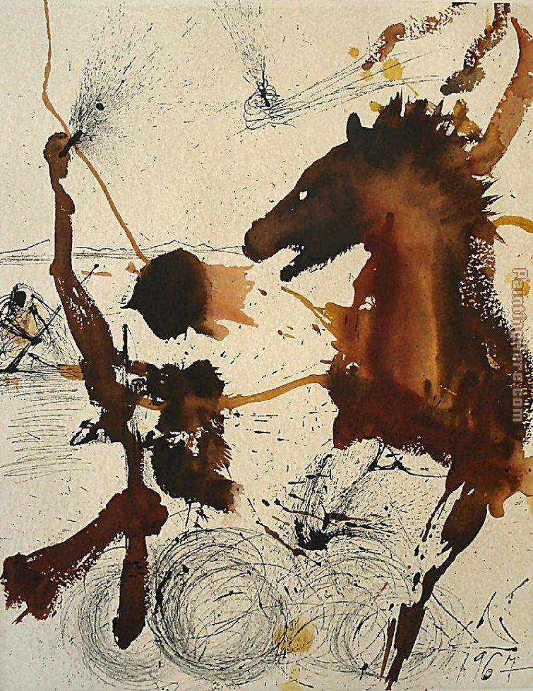 The Pioneers of Israel painting - Salvador Dali The Pioneers of Israel art painting