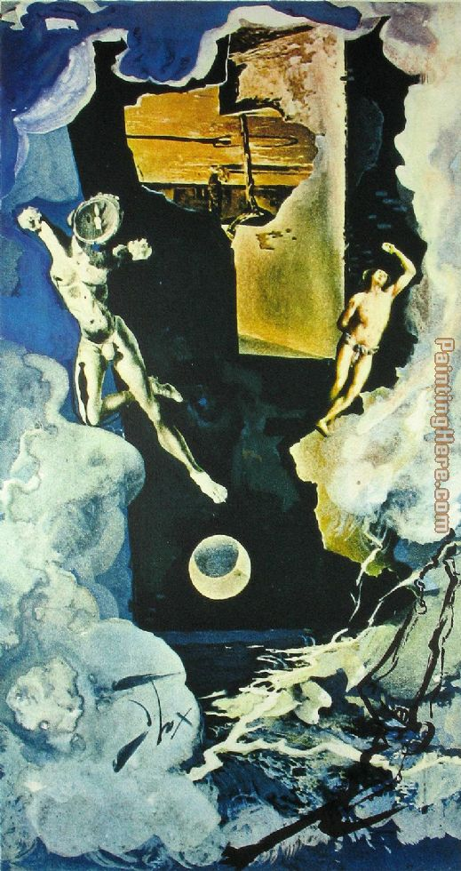 Salvador Dali The Tower Art Painting
