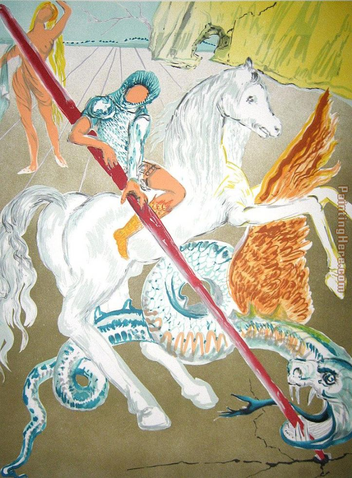 Salvador Dali The lance of chivalry Art Painting