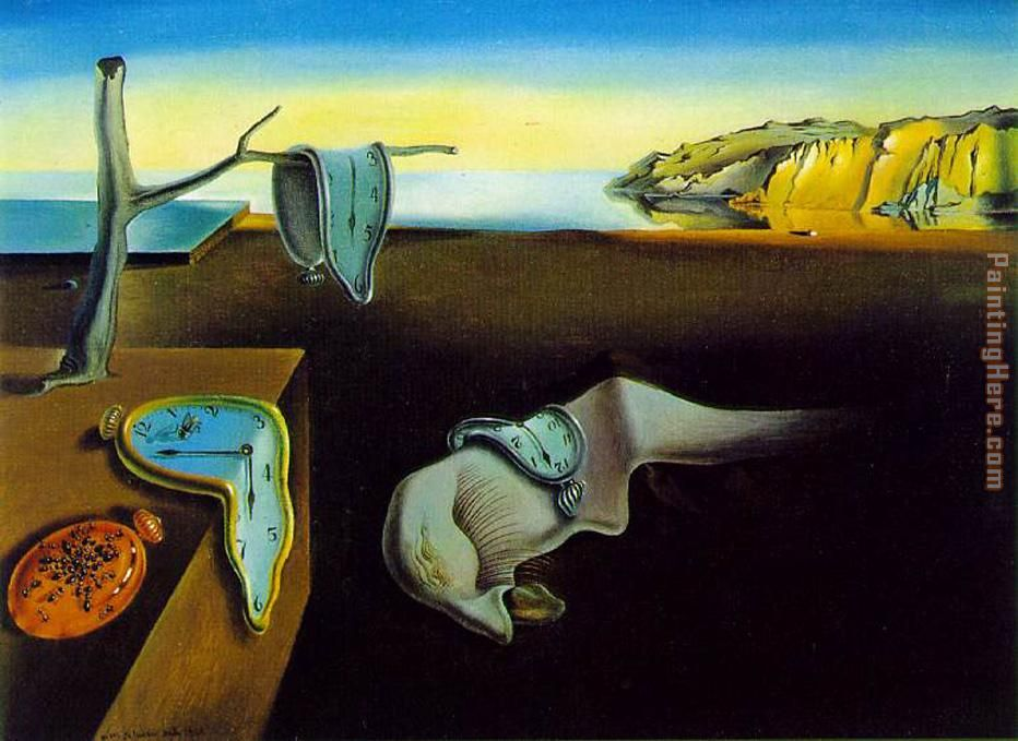 clock melting clocks painting - Salvador Dali clock melting clocks art painting