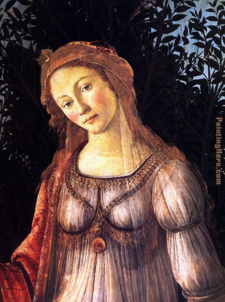 Allegory of Spring detail painting - Sandro Botticelli Allegory of Spring detail art painting