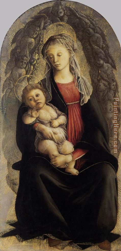 Madonna in Glory with Seraphim painting - Sandro Botticelli Madonna in Glory with Seraphim art painting