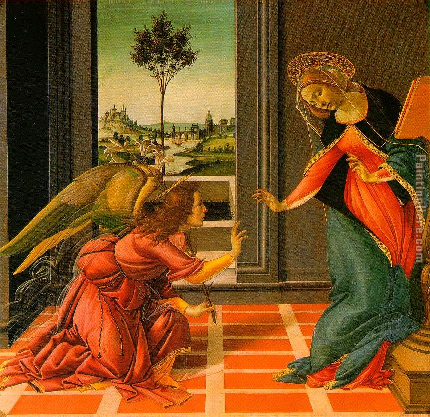 The Cestello Annunciation painting - Sandro Botticelli The Cestello Annunciation art painting