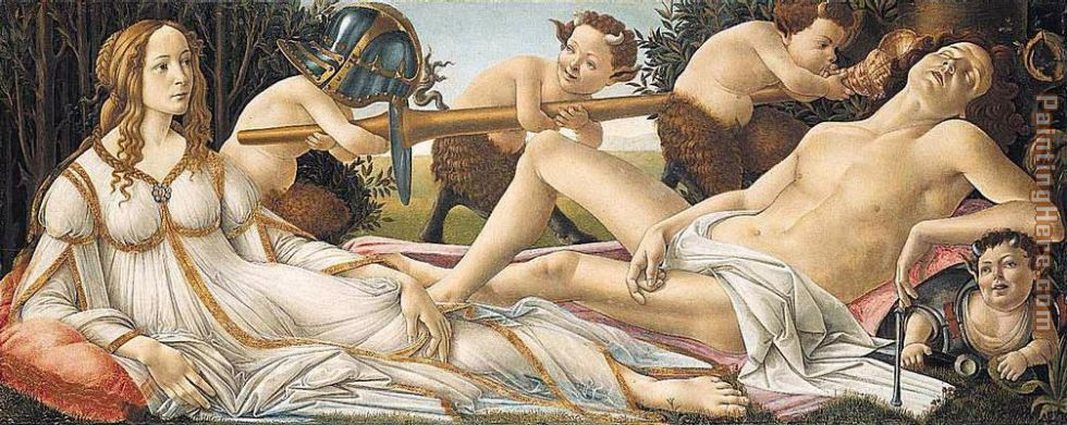 Venus and Mars painting - Sandro Botticelli Venus and Mars art painting