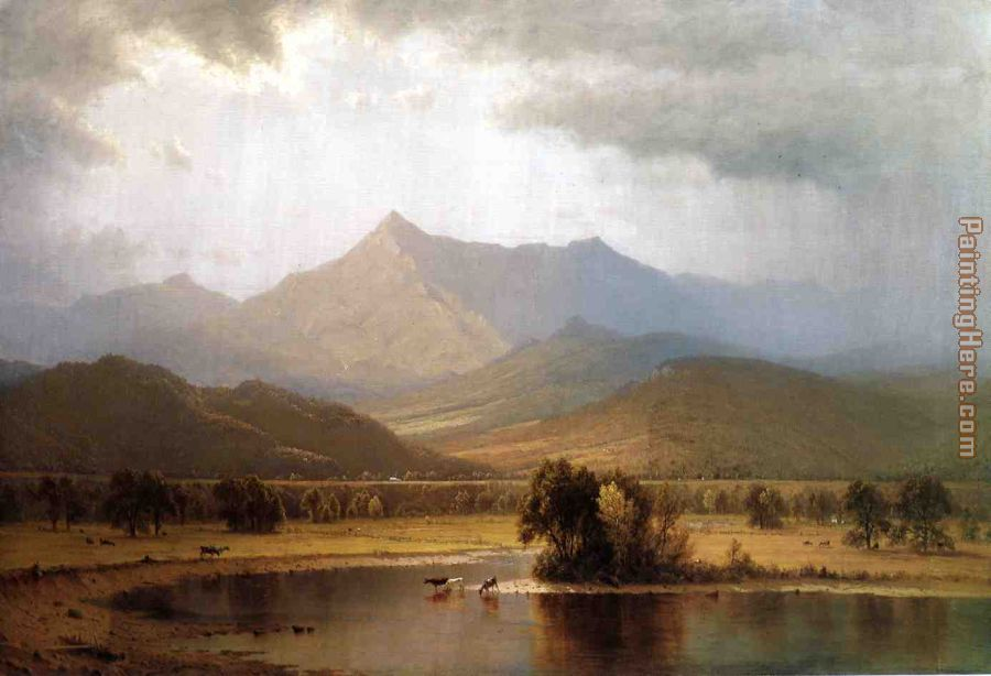 Sanford Robinson Gifford A Passing Storm in the Adirondacks Art Painting