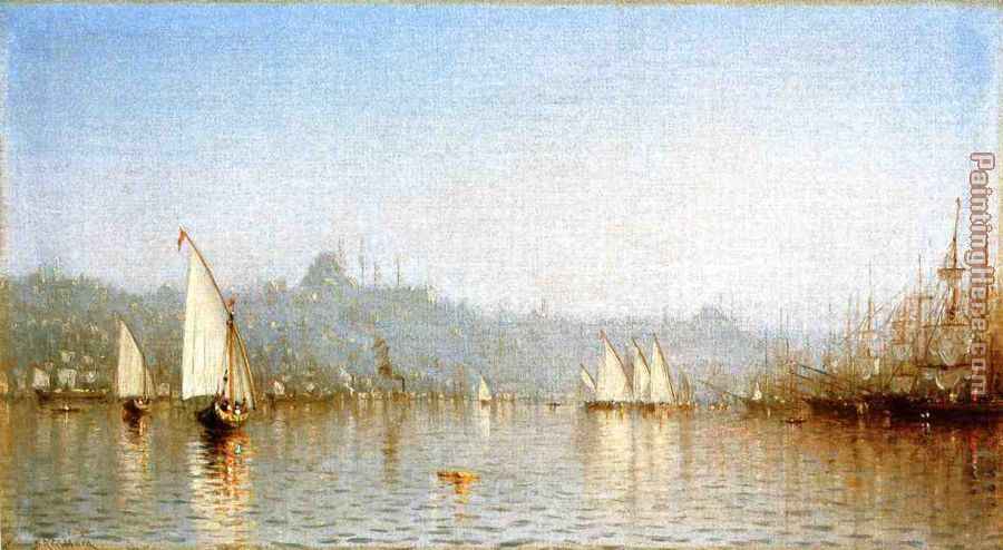 Constantinople, from the Golden Horn painting - Sanford Robinson Gifford Constantinople, from the Golden Horn art painting