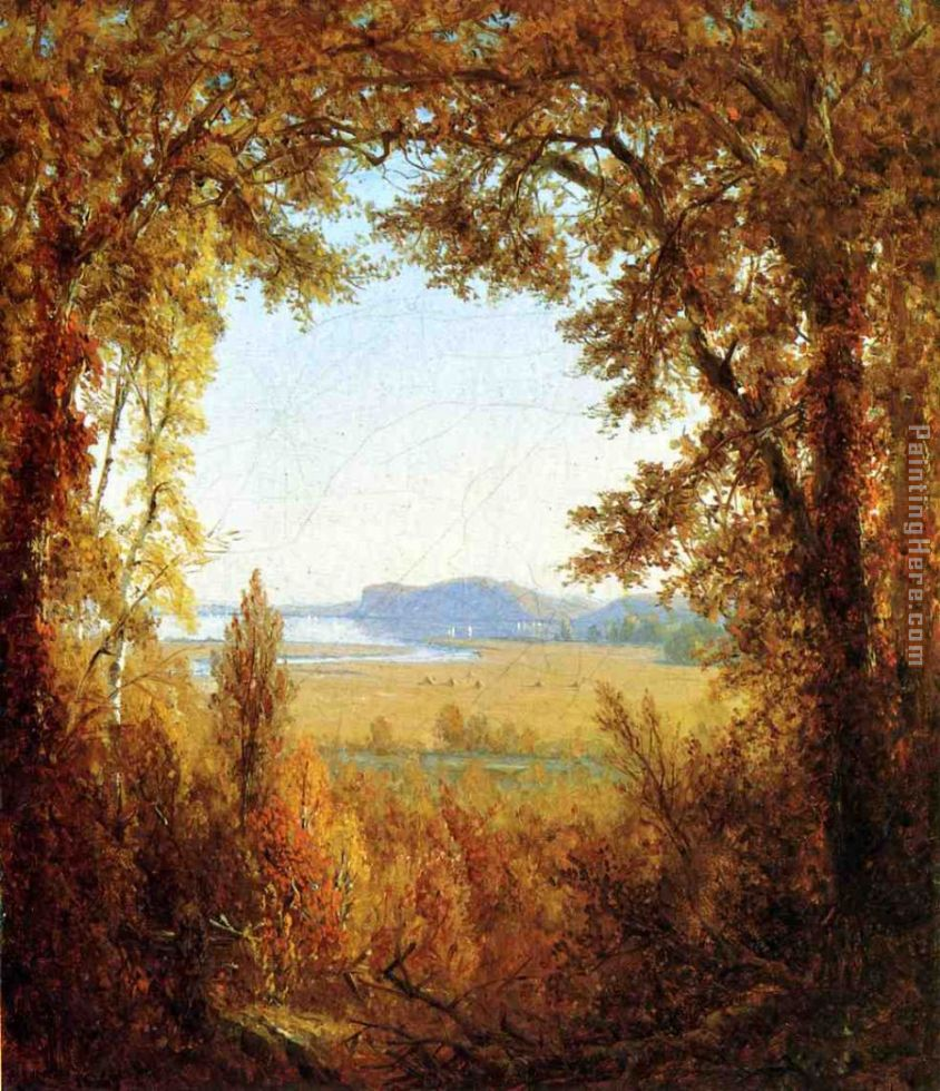 Hook Mountain on the Hudson River painting - Sanford Robinson Gifford Hook Mountain on the Hudson River art painting