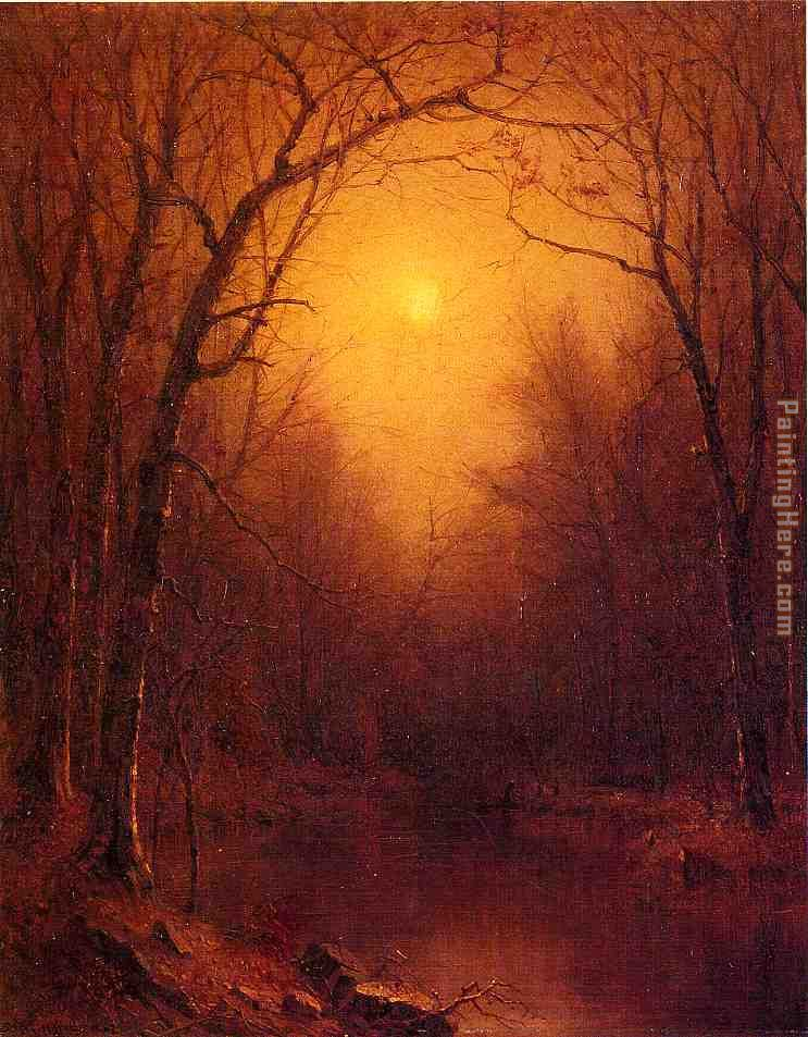Indian Summer in the Bronx painting - Sanford Robinson Gifford Indian Summer in the Bronx art painting