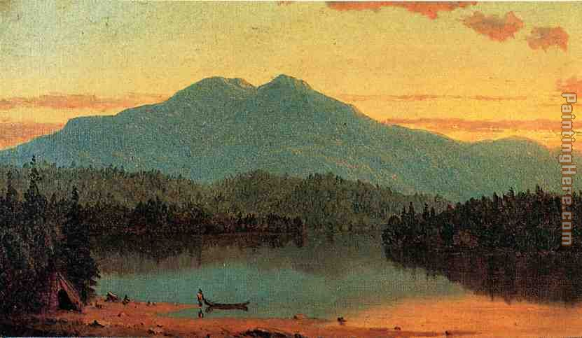 Indian Twilight painting - Sanford Robinson Gifford Indian Twilight art painting