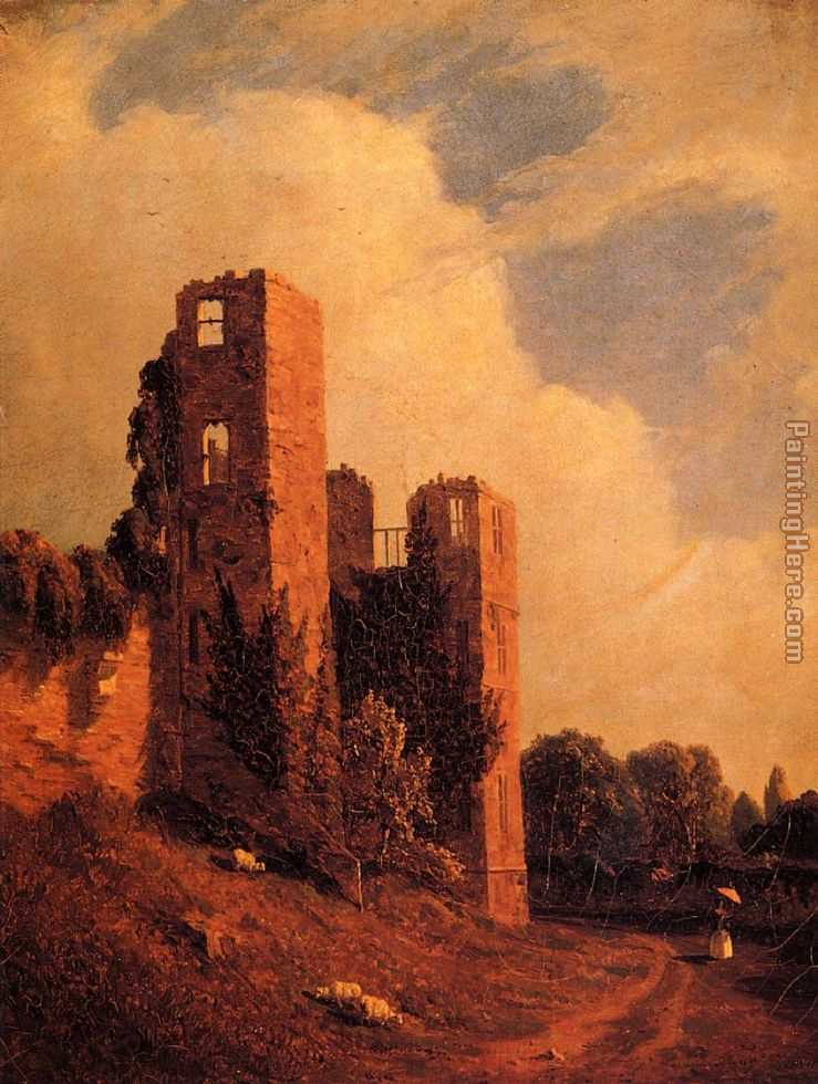 Kenilworth Castle painting - Sanford Robinson Gifford Kenilworth Castle art painting