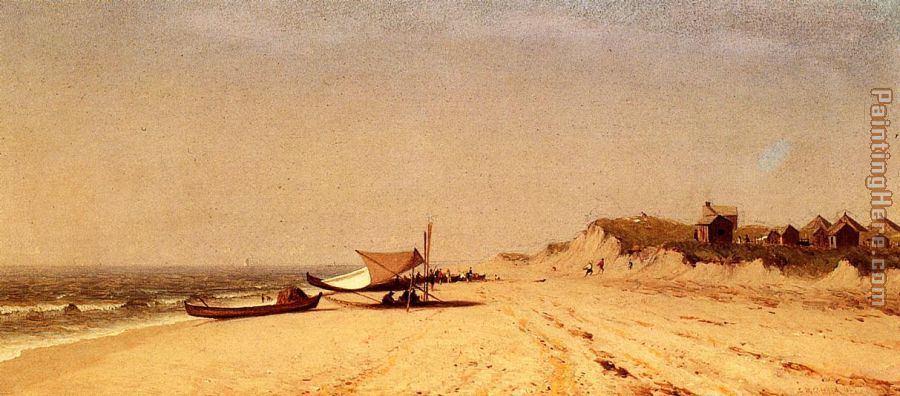 Long Branch Beach painting - Sanford Robinson Gifford Long Branch Beach art painting