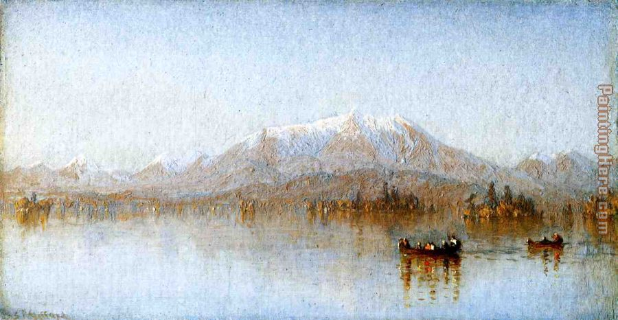 Mount Katahdin from Lake Millinocket painting - Sanford Robinson Gifford Mount Katahdin from Lake Millinocket art painting