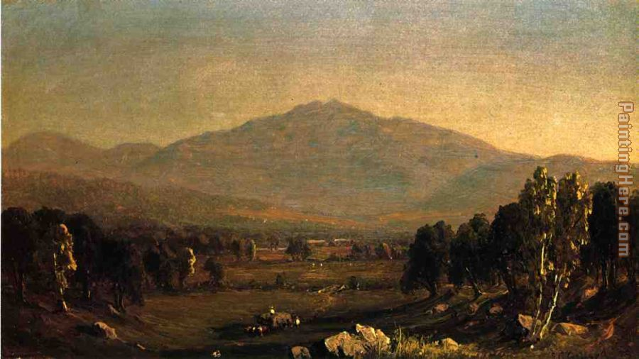 Mount Washington painting - Sanford Robinson Gifford Mount Washington art painting