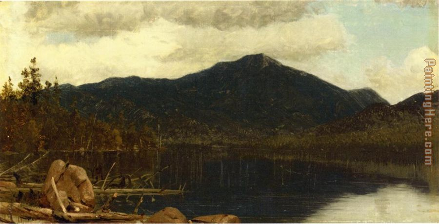 Mount Whiteface from Lake Placid painting - Sanford Robinson Gifford Mount Whiteface from Lake Placid art painting