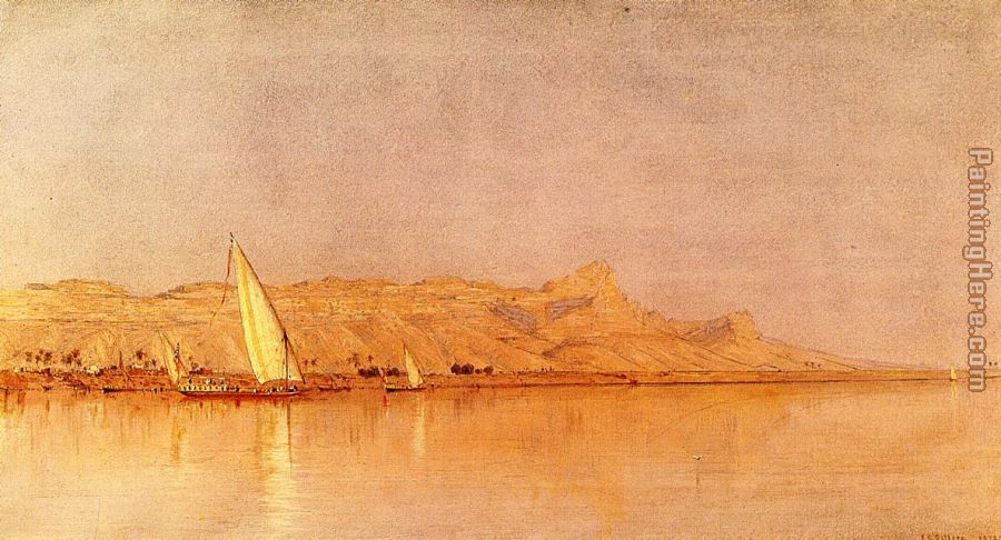On the Nile, Gebel Shekh Hereedee painting - Sanford Robinson Gifford On the Nile, Gebel Shekh Hereedee art painting