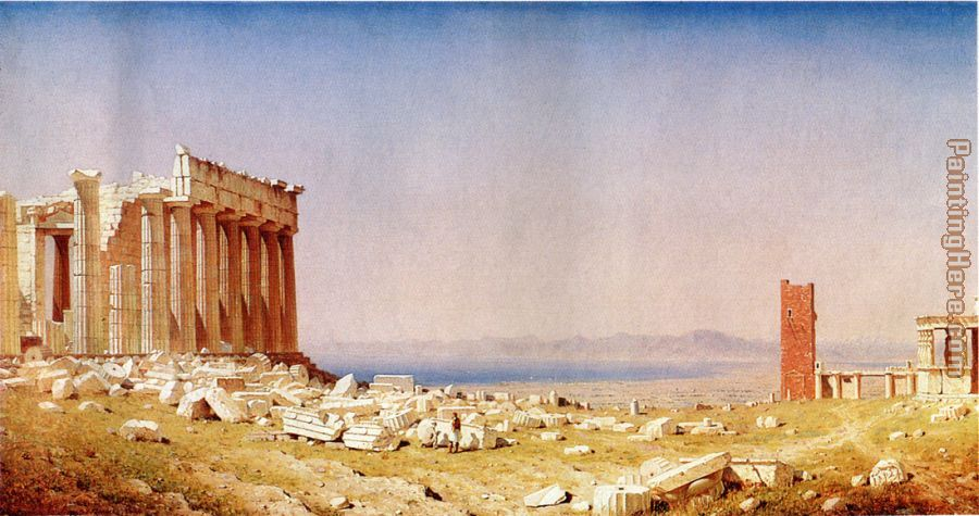 Ruins of the Parthenon painting - Sanford Robinson Gifford Ruins of the Parthenon art painting