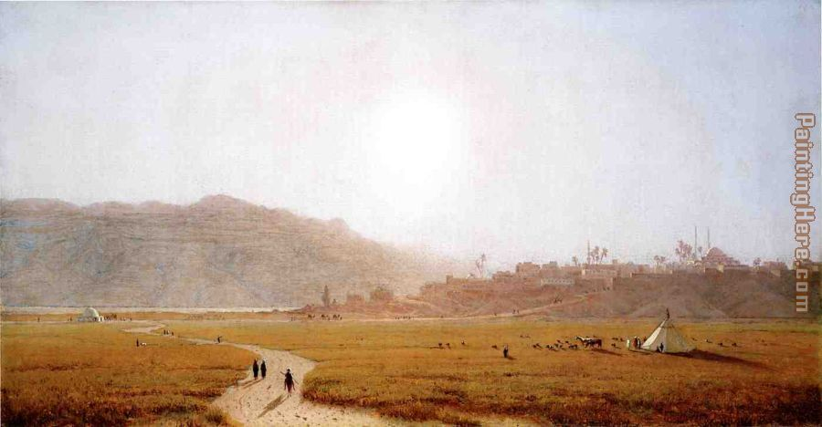 Siout, Egypt painting - Sanford Robinson Gifford Siout, Egypt art painting