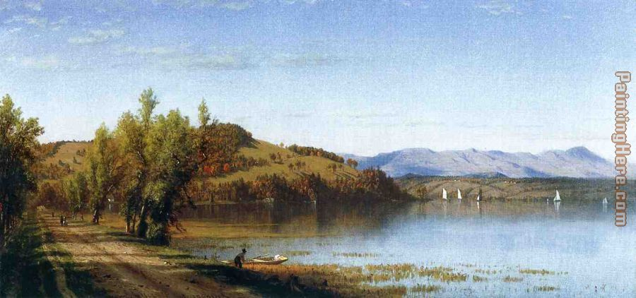 South Bay, on the Hudson, near Hudson, New York painting - Sanford Robinson Gifford South Bay, on the Hudson, near Hudson, New York art painting