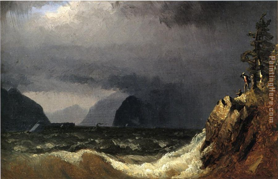 Storm King of the Hudson painting - Sanford Robinson Gifford Storm King of the Hudson art painting