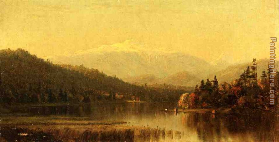 Sunset in the White Mountains painting - Sanford Robinson Gifford Sunset in the White Mountains art painting