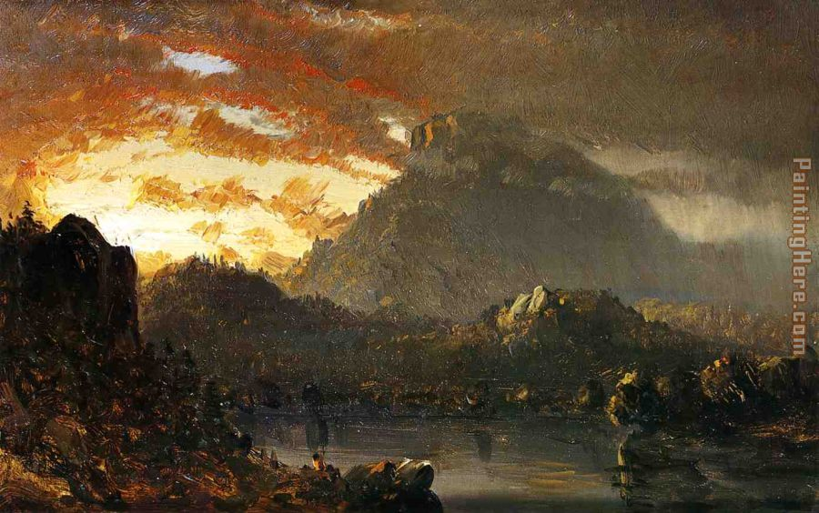 Sunset in the Wilderness with Approaching Storm painting - Sanford Robinson Gifford Sunset in the Wilderness with Approaching Storm art painting