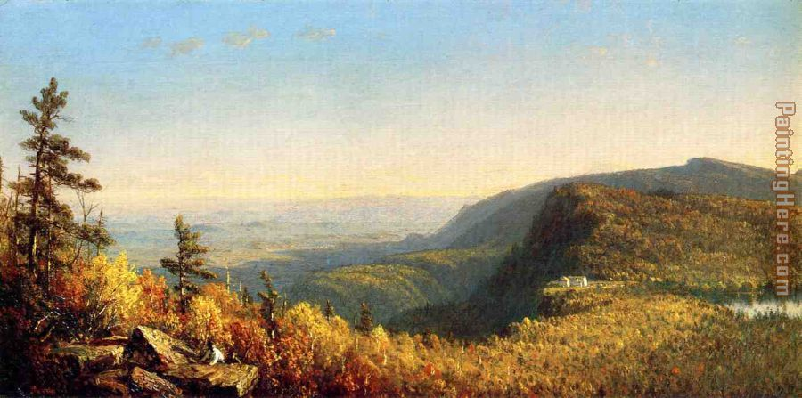 The Catskill Mountain House painting - Sanford Robinson Gifford The Catskill Mountain House art painting
