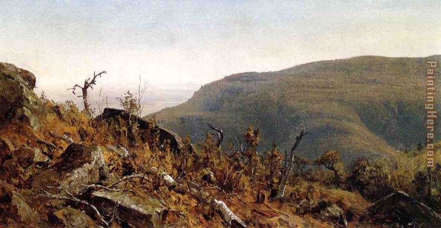 The View from South Mountain in the Catskills, A Sketch painting - Sanford Robinson Gifford The View from South Mountain in the Catskills, A Sketch art painting