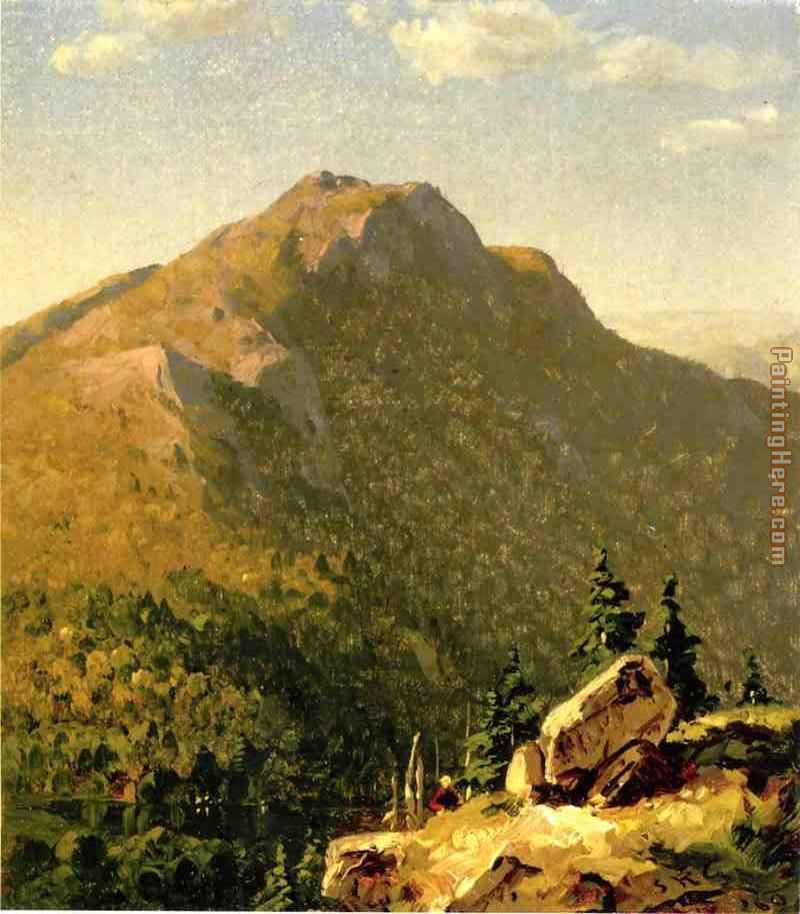 View of Catskills painting - Sanford Robinson Gifford View of Catskills art painting