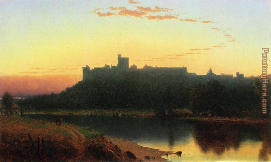 Windsor Castle painting - Sanford Robinson Gifford Windsor Castle art painting