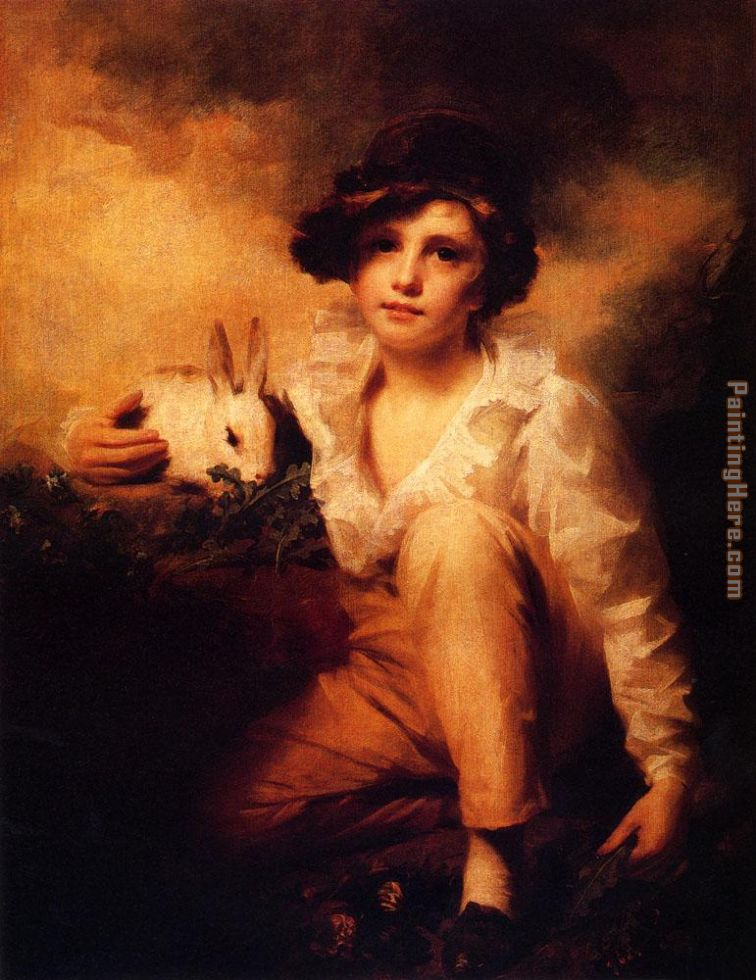 Sir Henry Raeburn Boy And Rabbit Art Painting