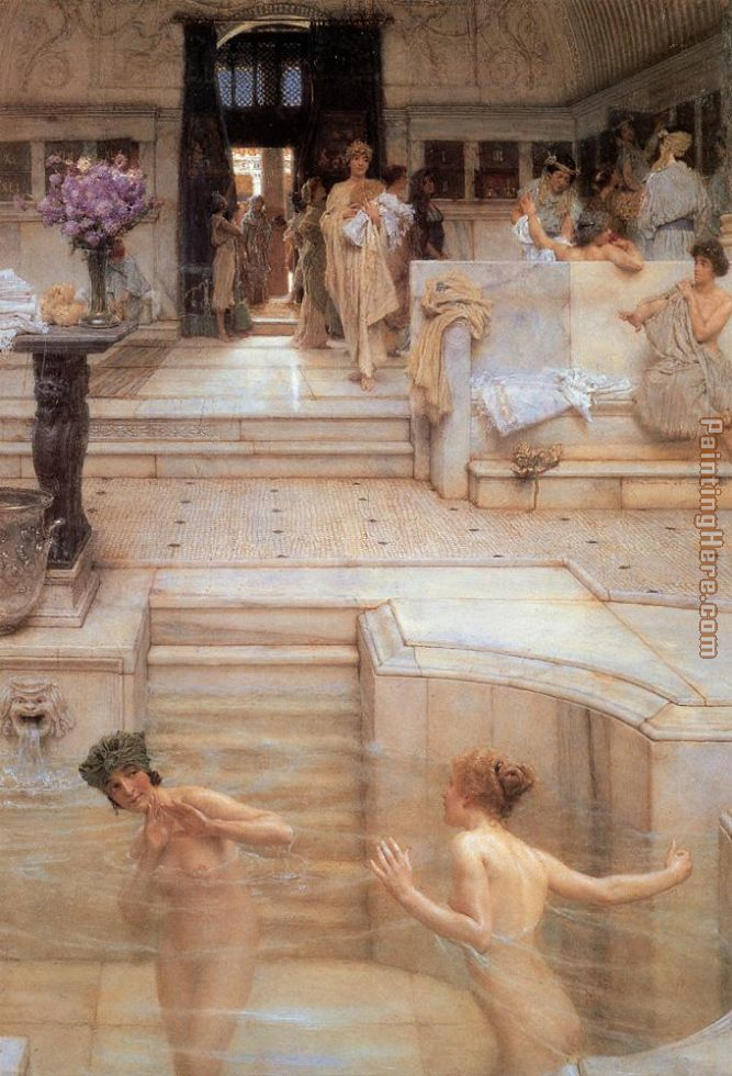 A Favorite Custom painting - Sir Lawrence Alma-Tadema A Favorite Custom art painting