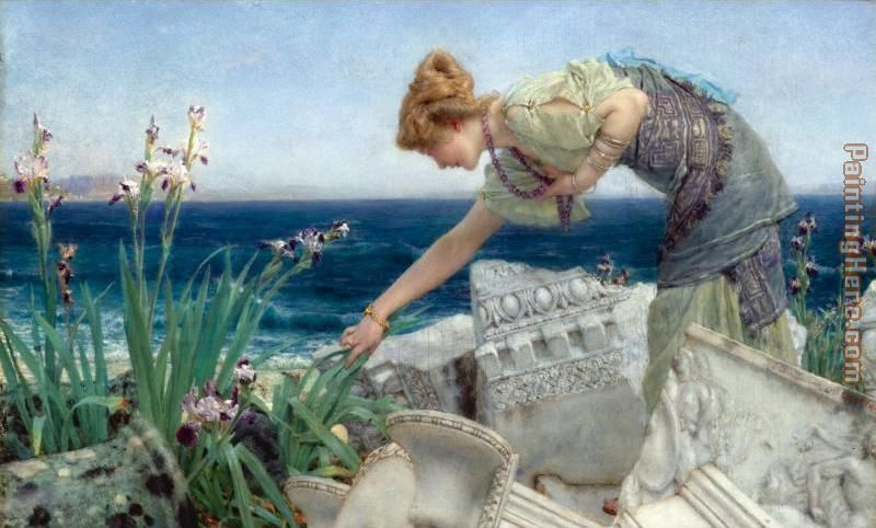 Among the Ruins painting - Sir Lawrence Alma-Tadema Among the Ruins art painting
