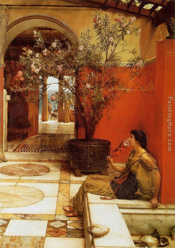 An Oleander painting - Sir Lawrence Alma-Tadema An Oleander art painting