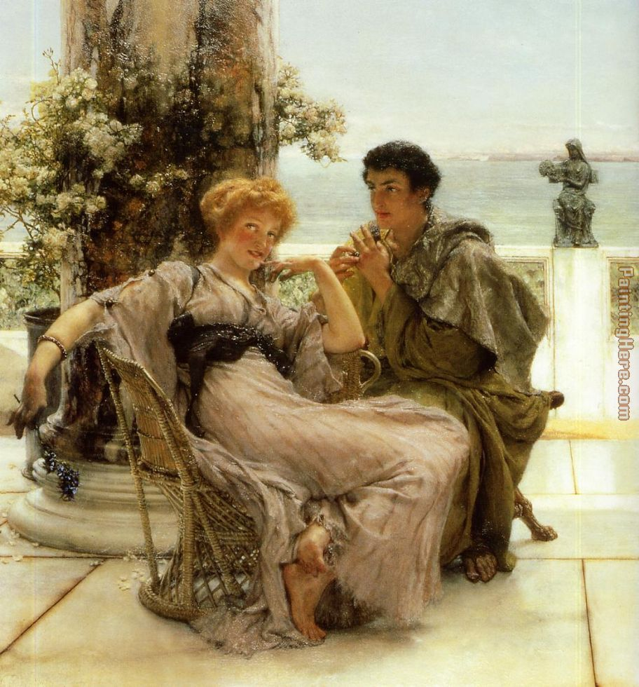 Sir Lawrence Alma-Tadema Courtship the Proposal Painting anysize ...