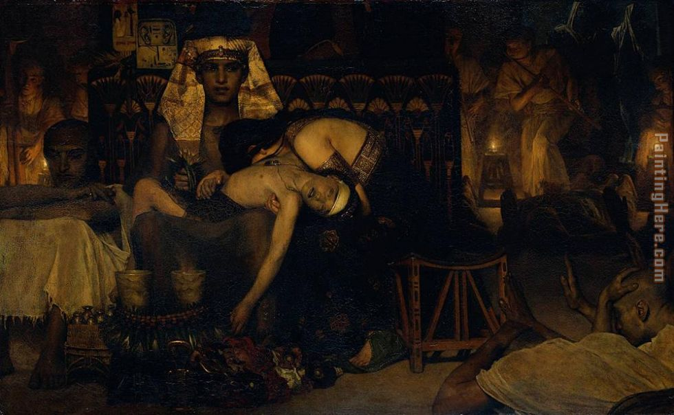 Sir Lawrence Alma-Tadema Death of the Pharaoh's Firstborn Son Art Painting