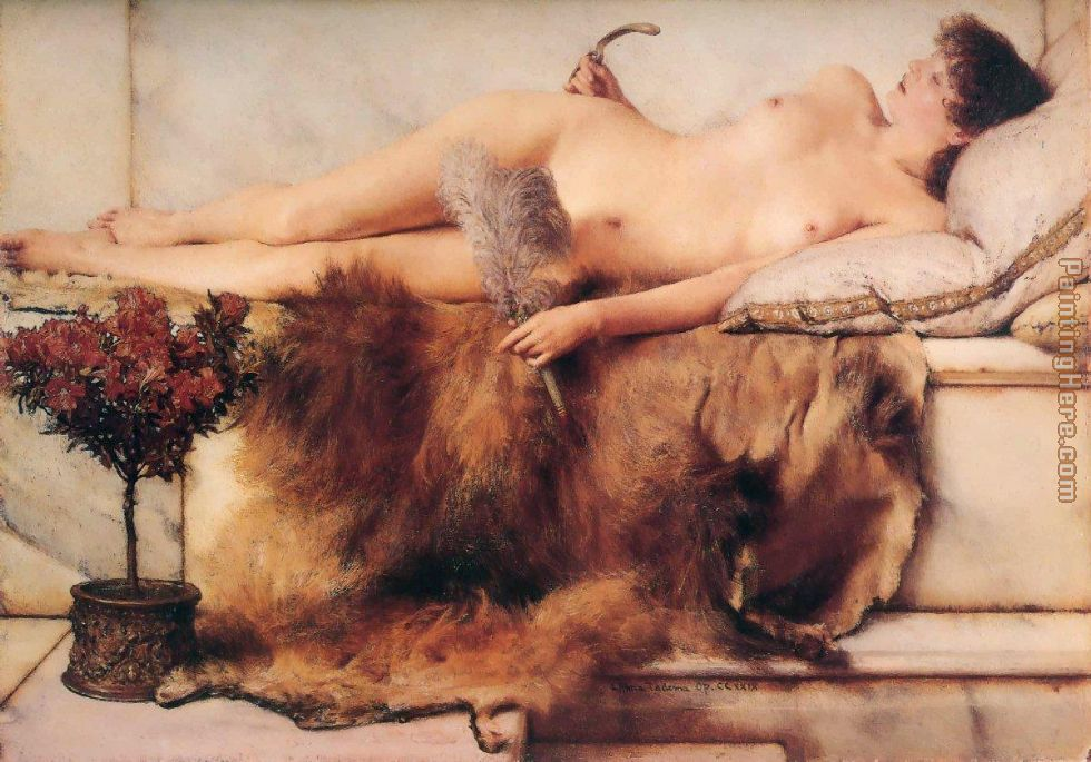 In the Tepidarium painting - Sir Lawrence Alma-Tadema In the Tepidarium art painting