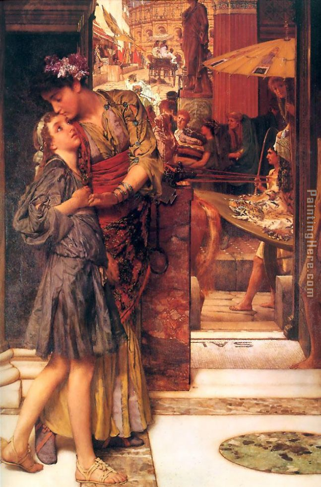The Parting Kiss painting - Sir Lawrence Alma-Tadema The Parting Kiss art painting