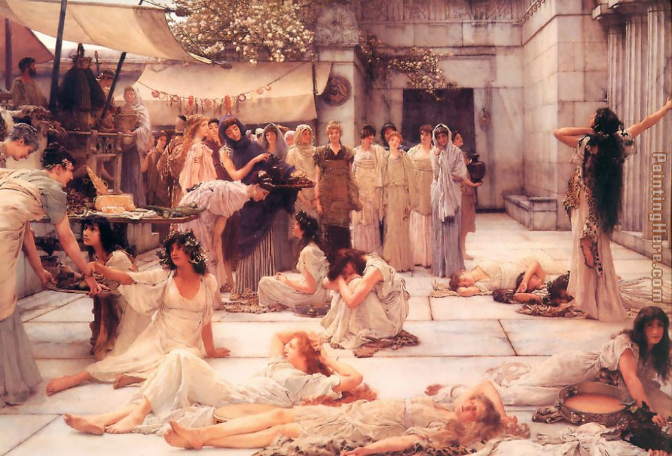 The Women of Amphissa painting - Sir Lawrence Alma-Tadema The Women of Amphissa art painting