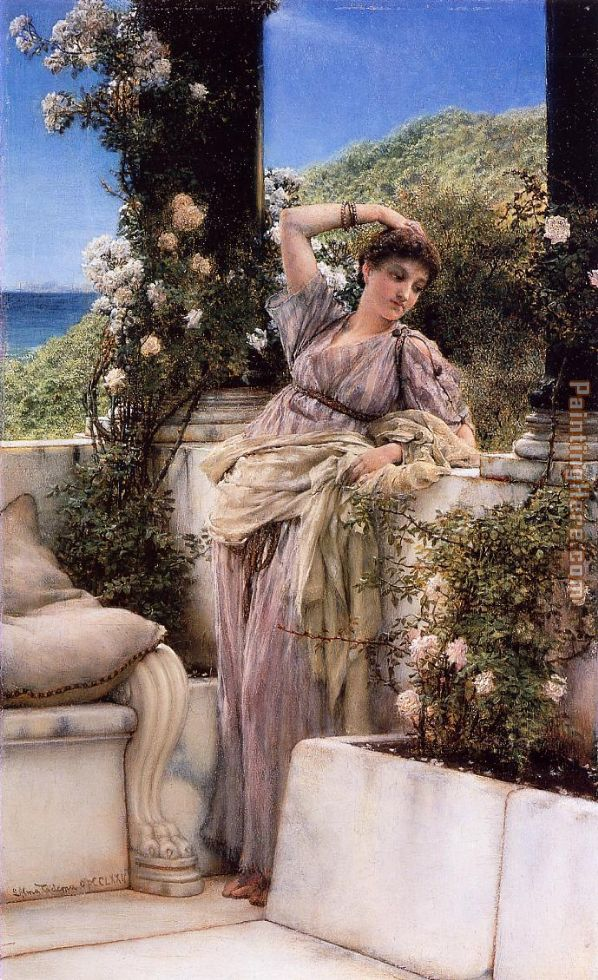 Thou Rose of all the Roses painting - Sir Lawrence Alma-Tadema Thou Rose of all the Roses art painting