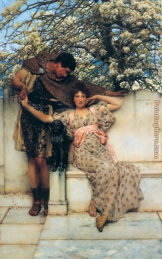 promise of spring painting - Sir Lawrence Alma-Tadema promise of spring art painting