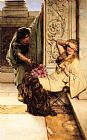 Shy by Sir Lawrence Alma-Tadema