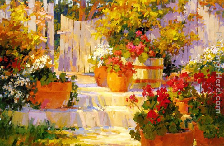 Patio Pots painting - Songer Steve Patio Pots art painting