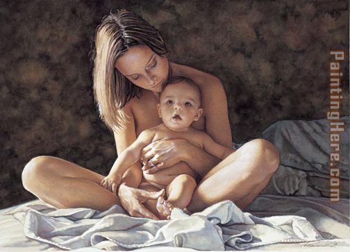 A Mothers Pride painting - Steve Hanks A Mothers Pride art painting