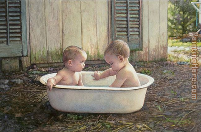 Steve Hanks Baby Bath painting anysize 50% off - Baby Bath ...